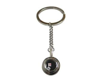 Rattling Dice Pendant Keychain