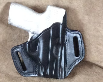 M&P Shield 45 Two Slot Pancake (TSP) Leather Gun Holster
