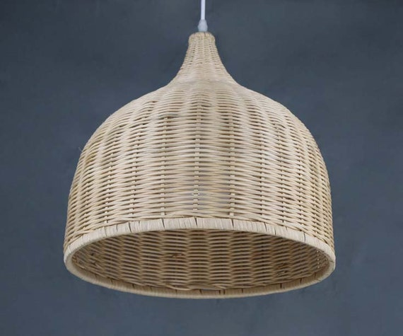 Hand woven bell shaped rattan pendant lightshome living like this item aloadofball Choice Image