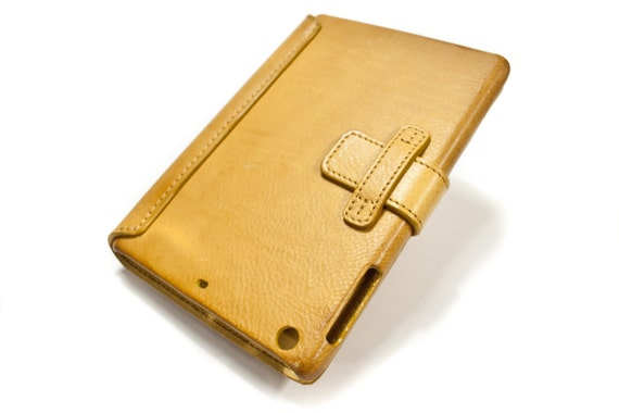 iPad MINI leather case made by genuine italian leather CHOOSE COLOUR
