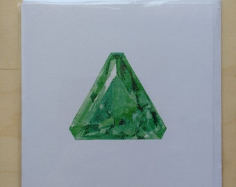 Emerald greetings card