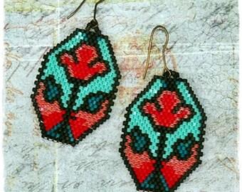 Autumn gift, Autumn Earrings, Autumn jewelry, Floral jewelry, Flower earrings, Tulip Earrings, Christmas gift, Bohemian earrings, Jewellery