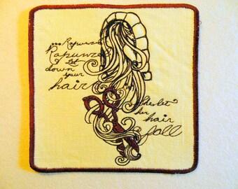 "Rapunzel Iron on Patch 6"""