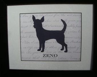 Chihuahua PERSONALIZED 8 x 10 Print