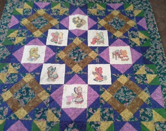 Embroidered Sunbonnet Sewing Sue Quilt
