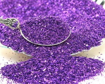 Violet Fusion Multigrain Glitter,Purple Glitter,Vintage Christmas,Glass glitter,Craft Supply,Artisan,Decor,Refinished Furniture,Christmas