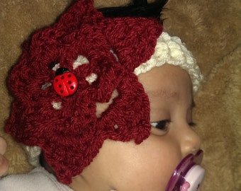accessory for baby, headband with a flower,