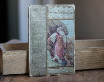 1905 Antique Story of Moses Vintage Book Photo Prop The Adopted Son