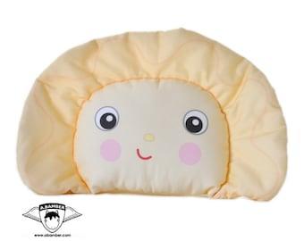 Perogy (Ukrainian Varenyk) Throw Pillow - Male- Cute Fabric Food Dumpling made by Adrianna Bamber