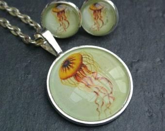 Set jewelry Jellyfish Jellies