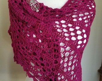 Fabulous hand made Dixie Charm Crochet Shawl, gift for mom, gifts for her, fine fiber, premium material