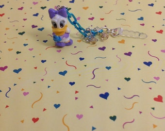 Daisy the Duck cell phone charm, Kawaii dust plug, Kawaii phone charm, headphone jack charm, iphone charm, ipad charm