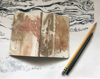 Eco Print Pocket Journal Sketchbook: blank pages