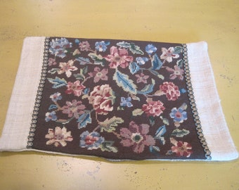 Handmade Antique Needlepoint Pillow Cover
