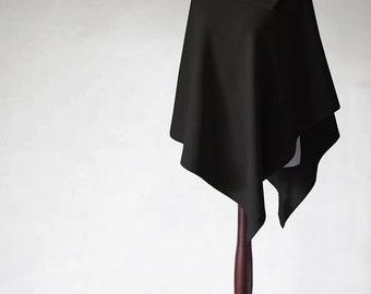 Cashmere poncho, black poncho, black coat, womens coat, wool coat, womens poncho, womens cape, wool poncho, wool cloak, cashmere sweater