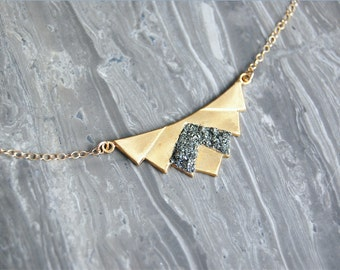 Crushed Crystal Druzy Queen Necklace