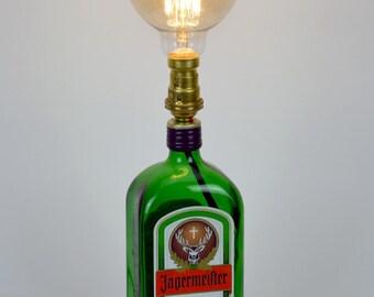 Table Lamp - Jagermeister - Desk Lamp - Upcycled - Bottle Lamp - Birthday Gift - Best Man Present - Mancave - Gift For Him - Home Decor