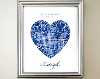 Raleigh Heart Map