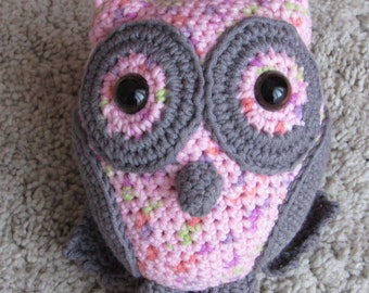 stuffed owl – crochet owl - toy owl - stuffed animal - baby toy
