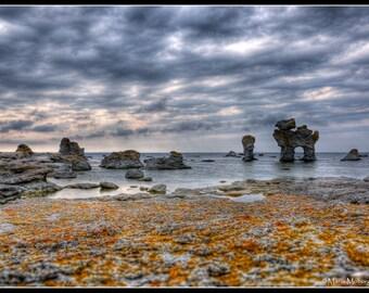 Gamlehamn, Gotland, Sweden HDR Photographic Fine Art Print