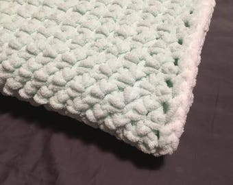 Crochet Baby Blanket - mint