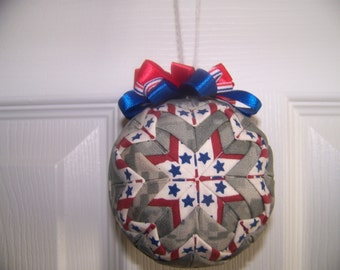 Military Quilted Ornament/Patriotic/Military Pride Quilted Ornament