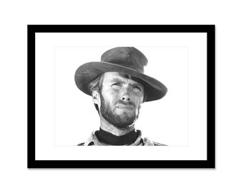 Black and white photo of Clint Eastwood