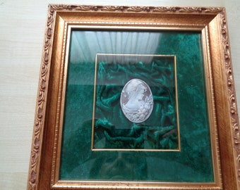 SHELL CAMEO in a frame