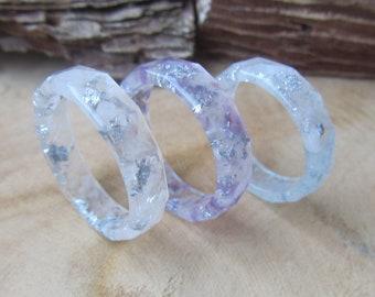 Rose quartz ring December birthstone Resin ring Cupid ring Engagement gemstone ring Quartz ring Rose stone ring Resin love ring Stone ring