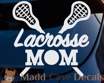 Lacrosse Mom Vinyl Decal | Lacrosse Mom Decal For Car | Lacrosse Mom Sticker | Lacrosse Decal