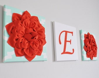 Personalized Baby Gift - nursery letters, nursery , baby girl nursery , coral, nursery decor, nursery wall letters Custom Baby Shower Gift