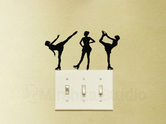 Figure Skating Light Switch Decal by Mirshkastudio