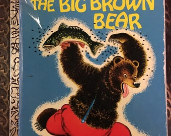 Big Brown Bear Little Golden Book by Georges Duplaix  Copyright 1944 / 1973 Sixth Printing #335 Golden Book Luv