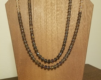 2-Strand Purple Ombre Necklace