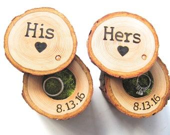 Wedding Ring Box, Wedding Ring Storage, Tree Branch Ring Box, His and Hers Wedding Ring Box, Wood Ring Box