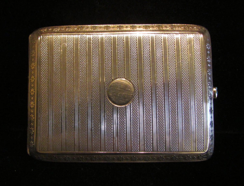 Antique Silver Cigarette Case Cigarette Box 900 Sterling