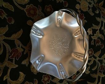 Vintage Hammered Aluminum 'Basket'