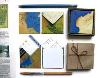 World Map Mini Stationery Set