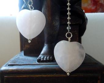 Fête des mères jour cadeau Quartz Rose coeur de cristal clair Fan Pull plafond boule chaîne lampe chambre romantique Decor chambre d'enfant coeur rose amour Tween ADO
