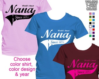 World's Finest Nana - Personalized with Year - Classic Fit Ladies' T-Shirt