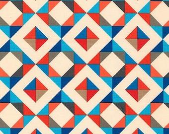 Geo Pop Canvas 2 Diamonds Fabric - Bright - Sold by the 1/2 Yard