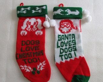 Christmas stockings for your fur babies, dog stockings