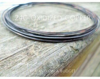 Oxidized Copper Wire 24 Gauge Dead Soft Choose from 5-100 Feet