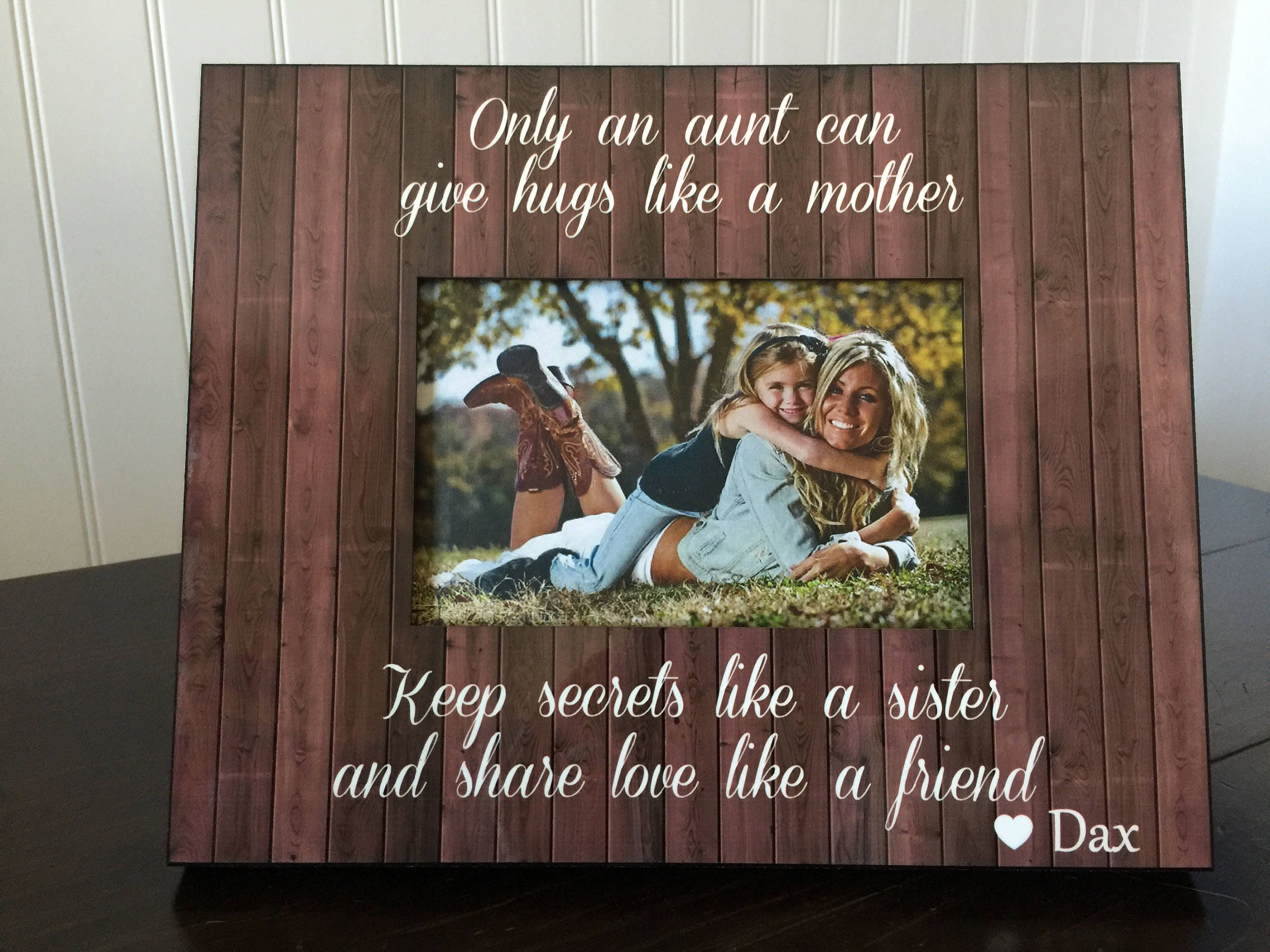 Aunt personalized picture frame // gift for aunt from niece or