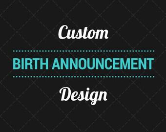 Birth Announcement Design
