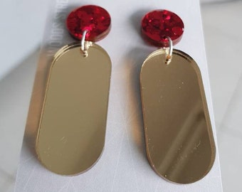 Gold Mirror Dangles