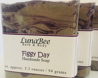 Figgy Day Soap | Brown Sugar and Fig Soap | Fig Soap | Sweet Soap | Handmade Soap | Mother's Day Gift