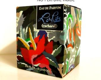 Vintage Perfume 1990s LouLou by Cacharel 3.4 oz Lou Lou Eau de Parfum Splash Empty Box No Bottle