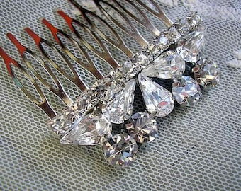 BRIDAL hair comb vintage style wedding HAIR ACCESSORIES sparkle Rhinestones bridal hair accessories