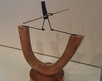 High Wire Wood and Wire Sculpture